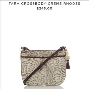 BRAHMIN Tara Crossbody Creme Rhodes bag purse